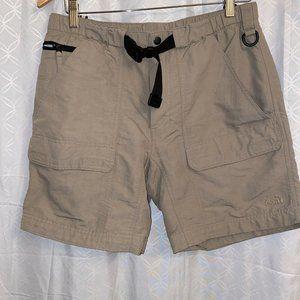 North Face Belted Cargo Shorts Khaki Men's Medium